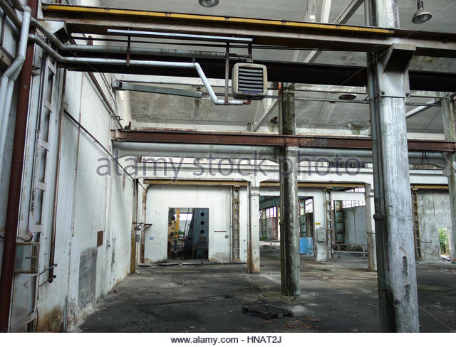 Abandoned factory interior stock photos abandoned for Ghost room milano