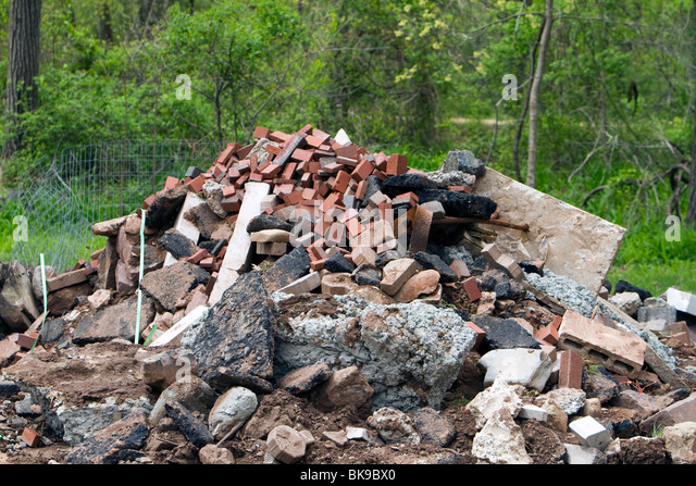 Pile Of Building Debris : Construction site debris stock photos