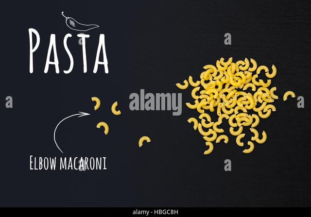 Uncooked Italian Pasta Elbow Macaroni Stock Image
