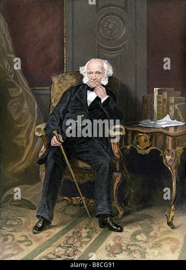 us president martin van buren in the white house stock image