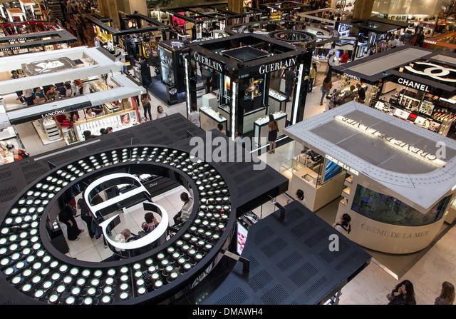 designer parfums ltd 5e1o  LUXURY GOODS AND DESIGNER PERFUMES BOUTIQUES AT GALERIES LAFAYETTE,  DEPARTMENT STORES, PARIS 75