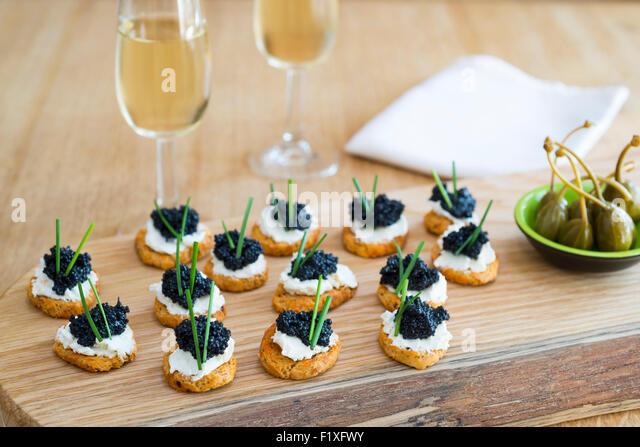 Fino sherry stock photos fino sherry stock images alamy for Canape de caviar