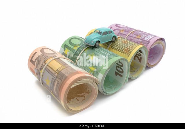 Money Car Isolated On The White Background Ba Exh