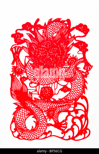 Papercutting stock photos papercutting stock images alamy for Chinese paper cutting templates dragon