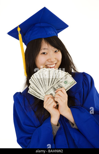 Asian Teenager In Graduation Gown Stock Photos & Asian Teenager In ...