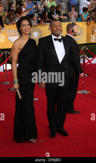 Laurence Fishburne And Wife Stock Photos & Laurence ...