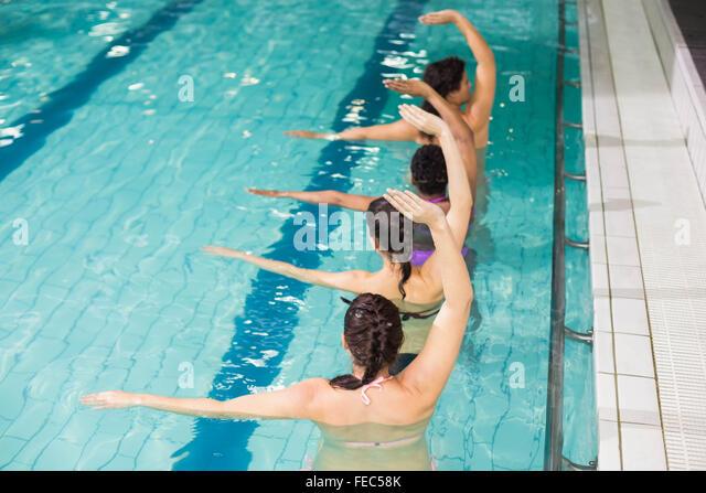 Pregnant Women Swimming Pool Stock Photos & Pregnant Women ...