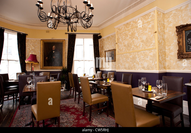 Old Pubu0027s Refurbished Dining Room Ready For A Private Function, Lancaster  Gate, London,