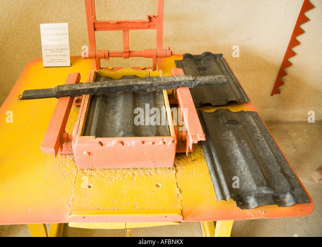 A Device For Producing Cement Roof Tiles At The Farmers Museum In The  Former Bessarabian Friedenstal