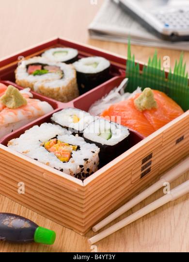 sushi bento stock photos sushi bento stock images alamy. Black Bedroom Furniture Sets. Home Design Ideas
