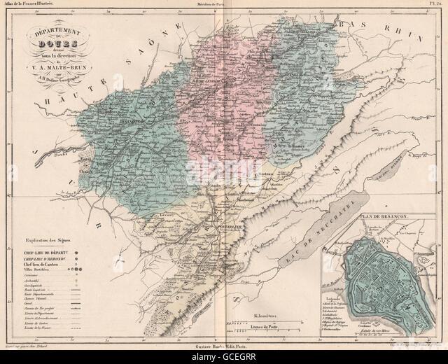 Paris map 19th century stock photos paris map 19th for Plan de malte