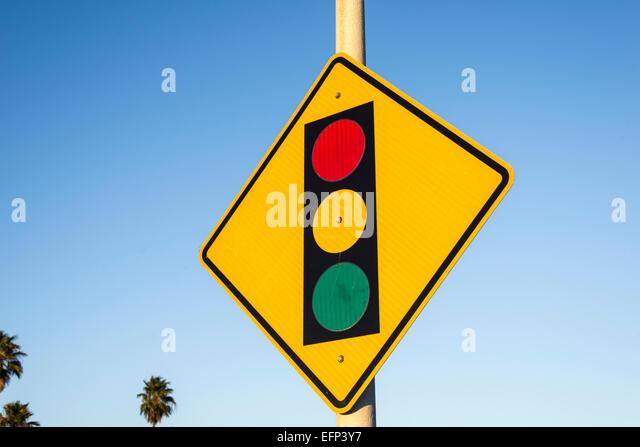 Traffic Light Warning Sign Stock Photos & Traffic Light Warning ...