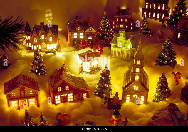 Miniature Christmas Village Stock Photos & Miniature Christmas ...