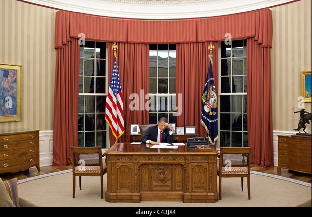 president barack obama edits his remarks in the oval office prior to a statement on osama barack obama enters oval