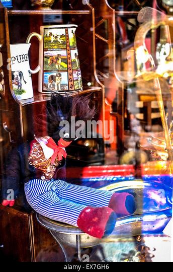 Antiques Shop Window Bath Somerset England UK Golliwog Toy