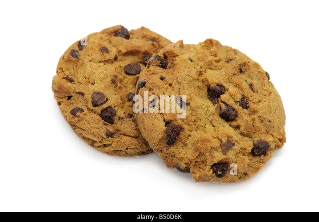 chocolate chip cookies b50d6k Ginger And White Coffee Three Biscuits Stock Photo Image