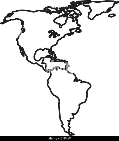 Map North South America Date Stock Photos Map North South - North america map drawing