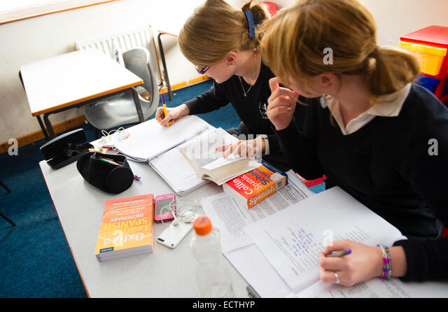 Modern Language Classroom ~ Education uk modern students classroom stock photos