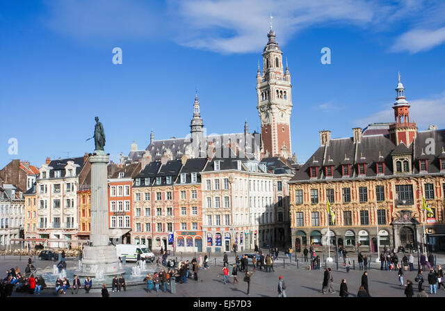 Grand place lille stock photos grand place lille stock for Chambre commerce francaise