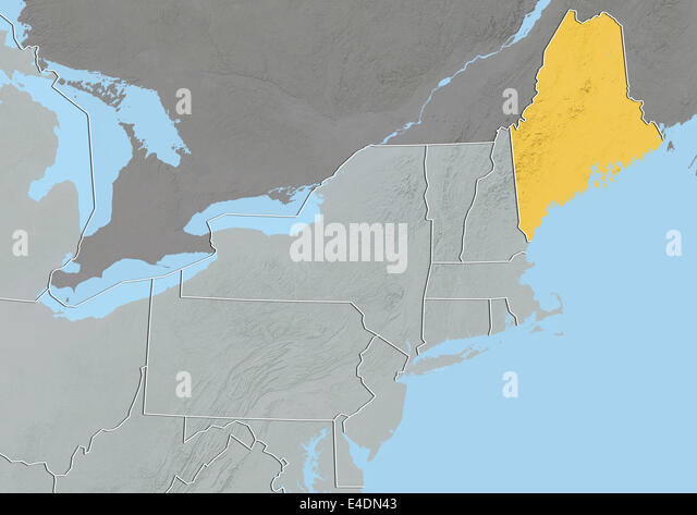 Maine State Map Stock Photos Maine State Map Stock Images Alamy - Map of the state of maine