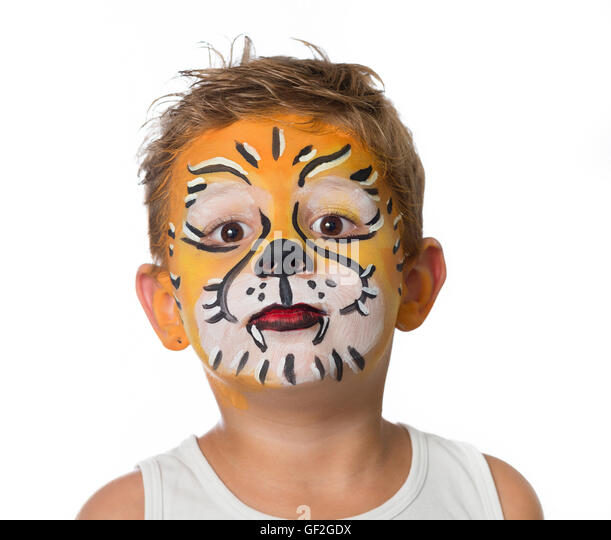 how to make a tiger face painting