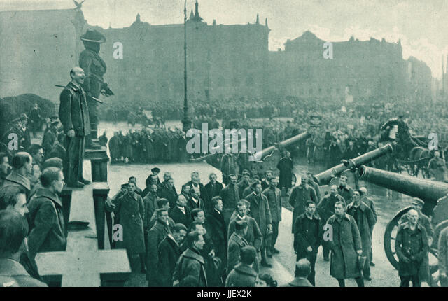 Government appeal for calm, Berlin 1919 - Stock Image
