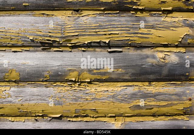 Log cabin wall stock photos log cabin wall stock images alamy - Exterior paint peeling concept ...
