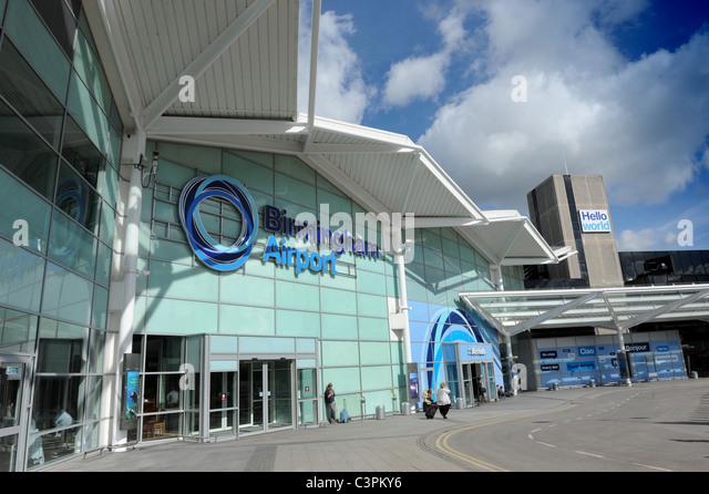 Birmingham Airport Terminal New Logo Sign England Uk Stock Image