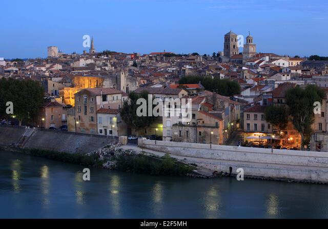 Arles france rhone river stock photos arles france rhone for Bouches rhone