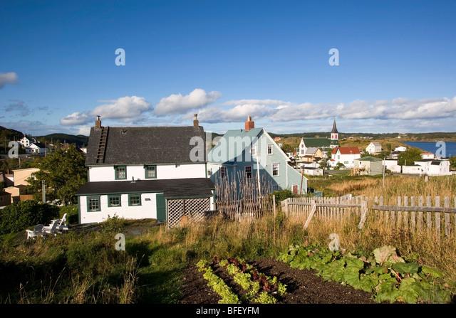 Vegetable Garden, Artisan Inn, Trinity, Newfoundland, Canada   Stock Image