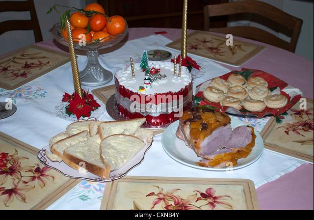 christmas ham dinner table - photo #23