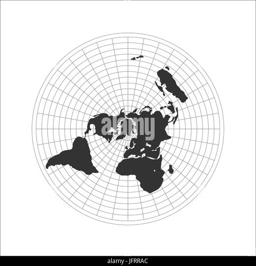 Flat earth map black and white stock photos images alamy flat earth map logo vector illustration stock image gumiabroncs Gallery