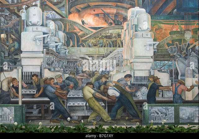 Detroit institute of arts stock photos detroit institute for Diego rivera mural chicago
