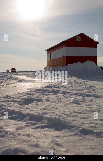 Ice fishing stock photos ice fishing stock images alamy for Red lake fish house rentals
