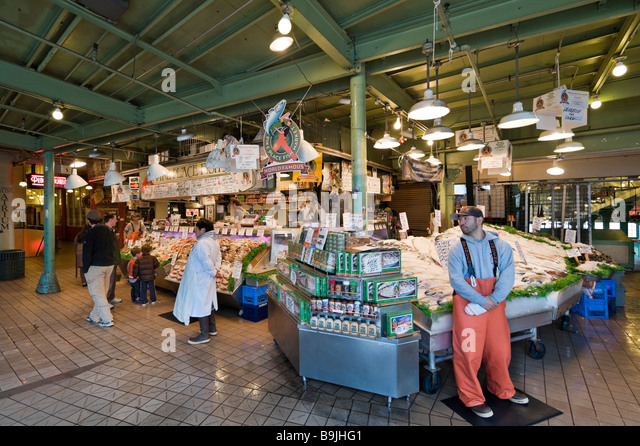 Fish market usa stock photos fish market usa stock for Fish market seattle