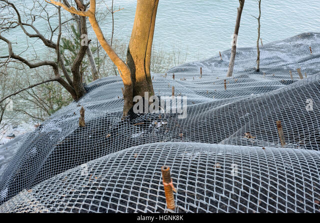 Landslide protection stock photos