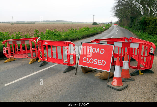 Road barriers stock photos images
