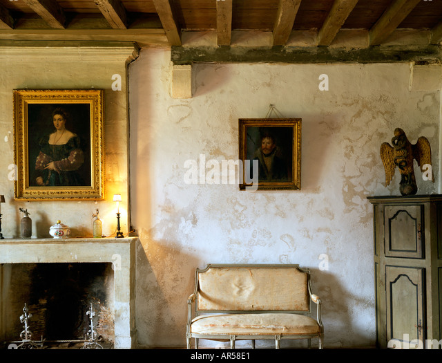 French Country House Interior   Stock Image