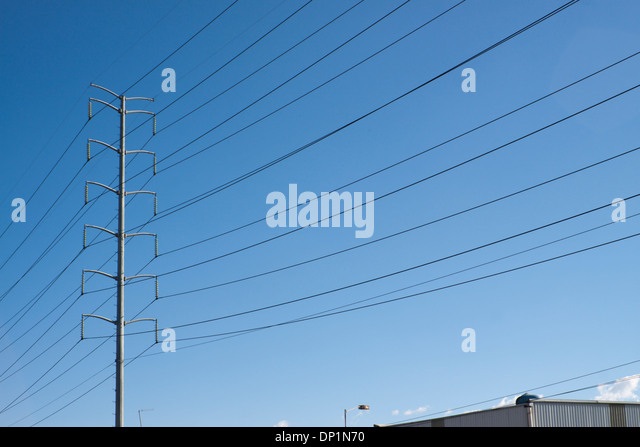 Electricity Wires In Mexico Stock Photos & Electricity Wires In ...