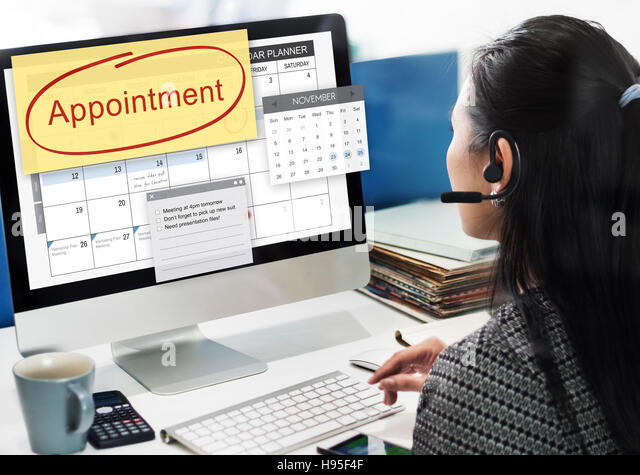 Appointment Planner Schedule Planning List Stock Photos