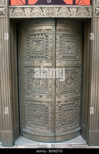 Bronze doors on the exterior of 20 Exchange Place in the Financial District in New York & Decorated Bronze Doors Stock Photos \u0026 Decorated Bronze Doors Stock ... Pezcame.Com