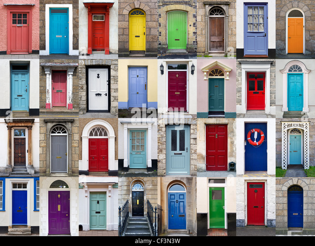 colourful front door stock photos & colourful front door stock