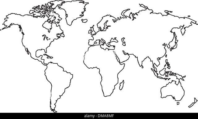 World map black and white countries stock photos world map black world map outlines vector black and white image stock image gumiabroncs Images