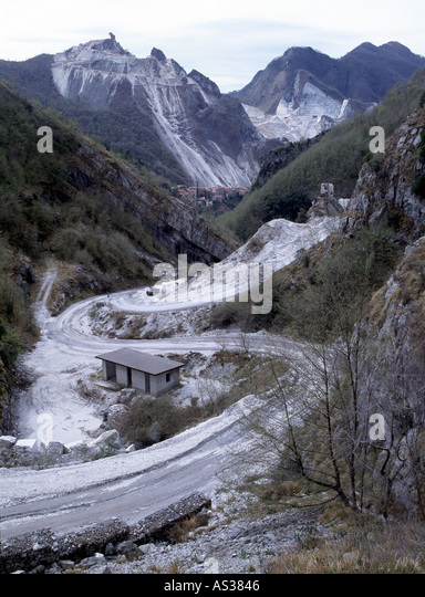 Carrara, Marmor Steinbrüche, Südansicht   Stock Image