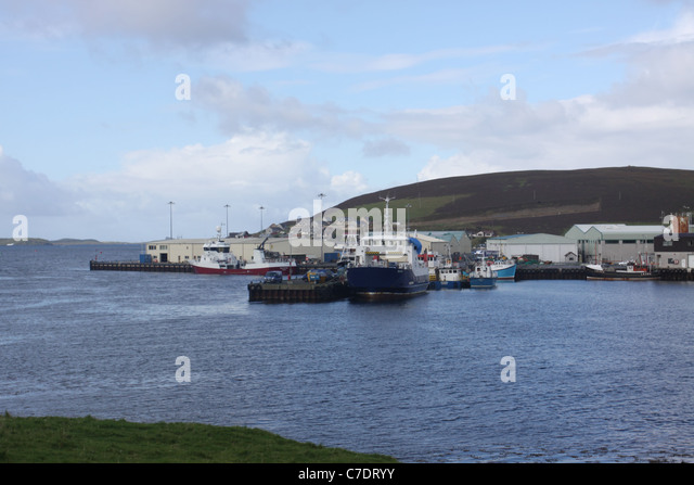 Scalloway Harbour Shetland Islands Scotland Stock Photos