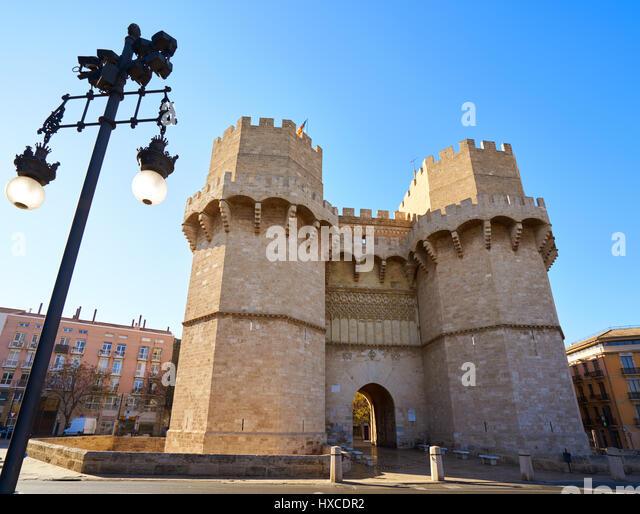De Serranos Town Gate In Stock Photos & De Serranos Town Gate In Stock Im...