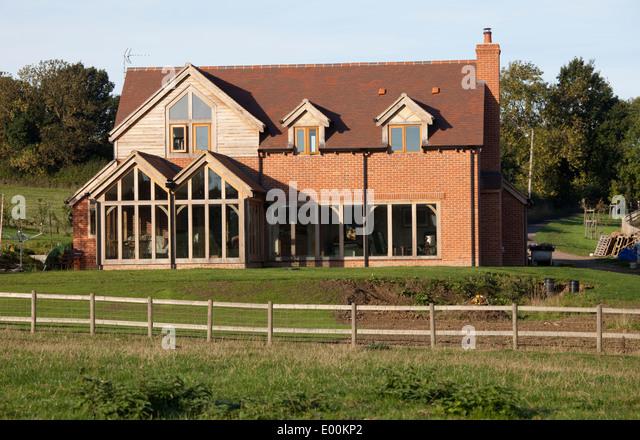 Brick Timber Frame Homes : Green belt uk stock photos images