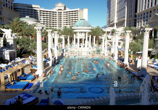 Las vegas caesars palace pool stock photos las vegas for Caesars swimming pool
