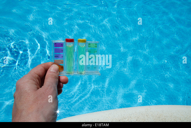 swimming pool water test stock photos swimming pool water test stock images alamy. Black Bedroom Furniture Sets. Home Design Ideas