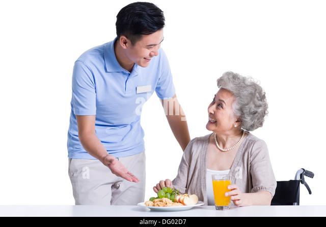 Nursing home eating healthy stock photos nursing home for Assistant cuisine